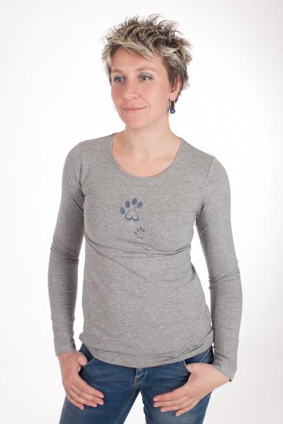 t shirt lady grey melange t shirts dog sports wear scucka. Black Bedroom Furniture Sets. Home Design Ideas